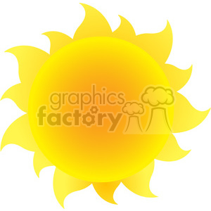 yellow silhouette sun with gradient vector illustration isolated on white background clipart. Royalty-free image # 399901
