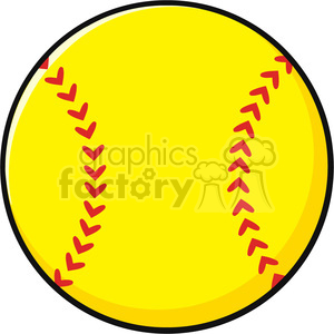 royalty free cartoon softball vector illustration isolated on white rh graphicsfactory com softball vector artwork Baseball Vector Art