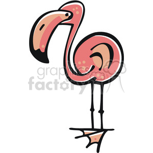 Cartoon Flamingo clipart. Royalty-free image # 129082
