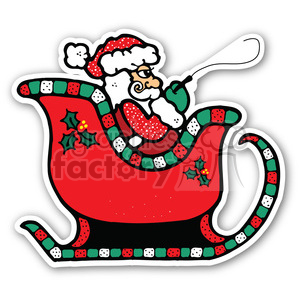 santa sleigh sticker clipart. Royalty-free image # 400364
