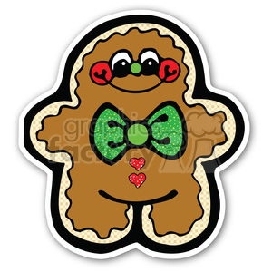 Christmas Gingerbread Man V2 Sticker Clipart Royalty Free Clipart 400374