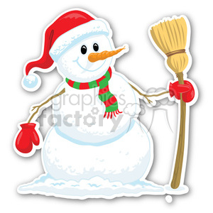 christmas snowman v6 sticker clipart. Royalty-free image # 400394