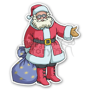 christmas santa v5 sticker clipart. Commercial use image # 400425