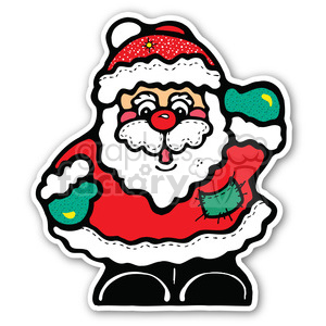 santa claus sticker clipart. Royalty-free image # 400460