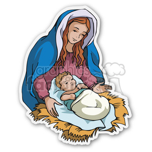 virgin mary sticker clipart. Royalty-free image # 400468