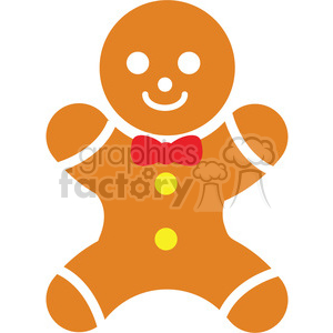 gingerbread man icon vector art clipart. Commercial use image # 400528