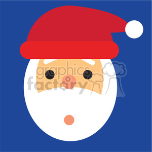 santa head oops icon vector art clipart. Commercial use image # 400538