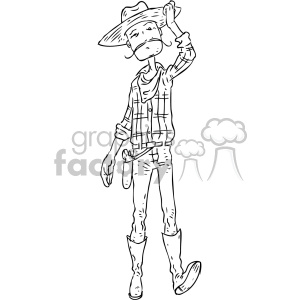 cowboy character vector book illustration clipart. Royalty-free image # 400658