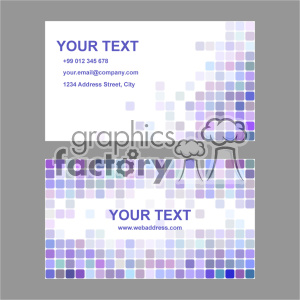 vector business card template set 005 clipart. Commercial use image # 401939
