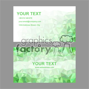 vector business card template set 015 clipart. Royalty-free image # 401944