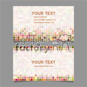 vector business card template set 057
