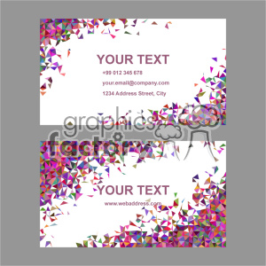 vector business card template set 043 clipart. Royalty-free image # 401999