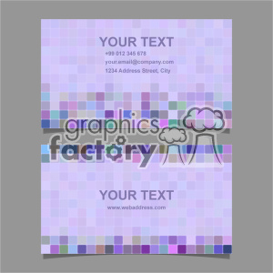 vector business card template set 056 clipart. Royalty-free image # 402004