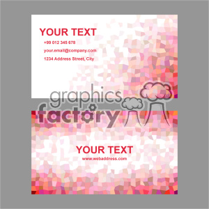 vector business card template set 011 clipart. Commercial use image # 402009