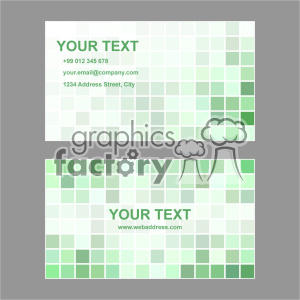 vector business card template set 019 clipart. Commercial use image # 402019