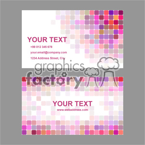 vector business card template set 028 clipart. Commercial use image # 402024