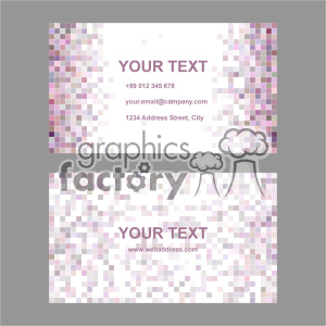 vector business card template set 033