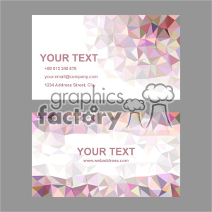 vector business card template set 027 clipart. Commercial use image # 402034