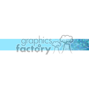 vector blue small geometric end banner background