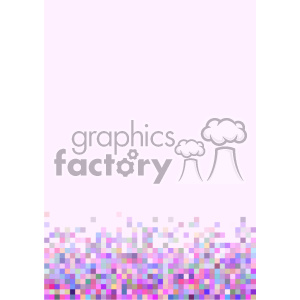 shades of pink pixel vector brochure letterhead bottom background template clipart. Commercial use image # 402119