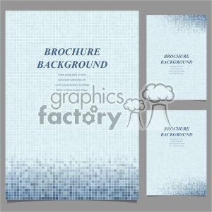 vector letter brochure template set 044