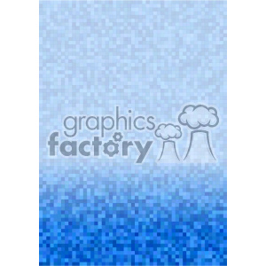 blue gradient pixel pattern vector brochure letterhead bottom background template clipart. Royalty-free image # 402189