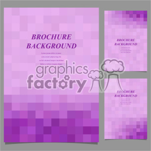 vector letter brochure template set 040 clipart. Royalty-free image # 402204