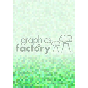 shades of green pixel pattern vector brochure letterhead bottom background template