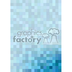 shades of blue pixel pattern vector brochure letterhead bottom corner background template clipart. Royalty-free image # 402244