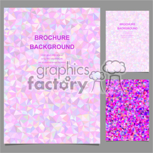 vector letter brochure template set 013 clipart. Commercial use image # 402249
