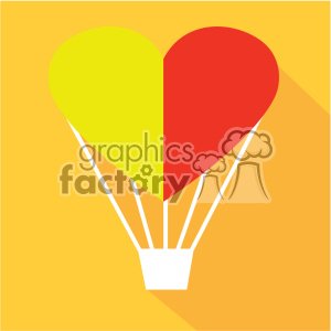 valentine love hot air balloon made of a heart flat design vector icon art clipart. Commercial use image # 402287