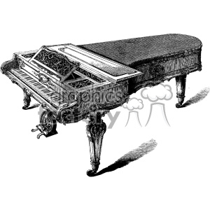 vintage distressed vintage piano GF vector design vintage 1900 vector art GF clipart. Royalty-free image # 402425