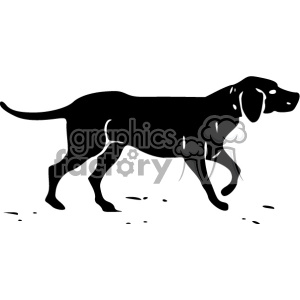 hunting dog vintage 1900 vector art GF clipart. Commercial use image # 402495