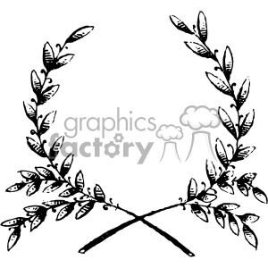 vintage grain wreath vector vintage 1900 vector art GF clipart. Commercial use image # 402590