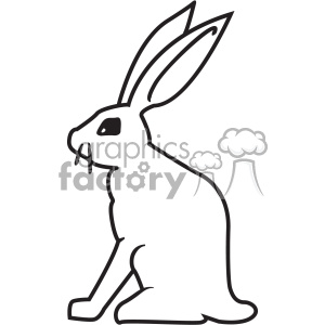 bunny svg cut file vector outline clipart. Royalty-free image # 402610