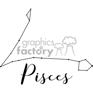 Constellations the Fishes Pisces Psc Piscium vector art GF