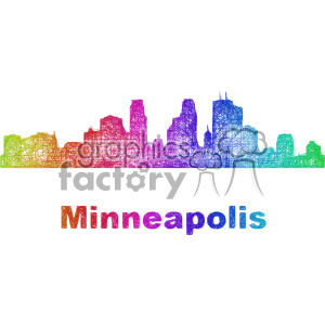 city skyline vector clipart USA Minneapolis clipart. Commercial use image # 402695