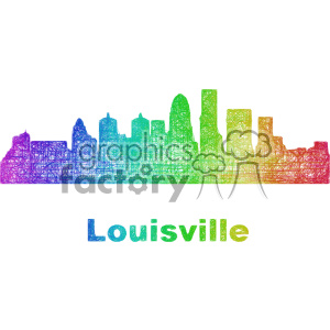 city skyline vector clipart USA Louisville clipart. Commercial use image # 402705