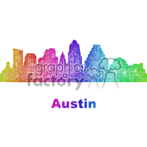 city skyline vector clipart USA Austin clipart. Commercial use image # 402715