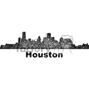 black and white city skyline vector clipart USA Houston clipart. Commercial use image # 402725
