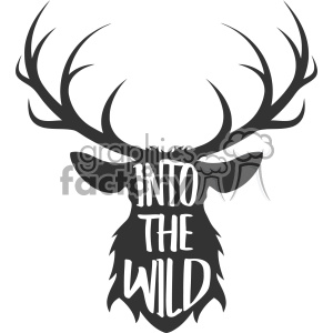 into the wild deer svg cut file vector design clipart. Commercial use image # 403017