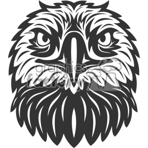 eagle head vector art clipart. Royalty-free image # 403157