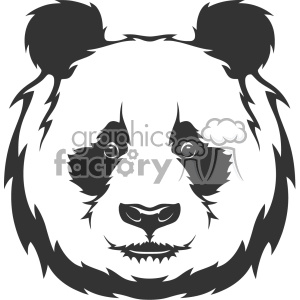 panda head vector art