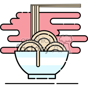 Noodle bowl flat vector icon design clipart. Royalty-free image # 403177