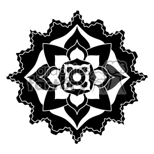 mandala geometric vector design 019 clipart. Royalty-free image # 403238