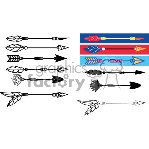 arrow bundle set vector art