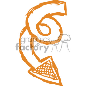 spiral arrow vector art