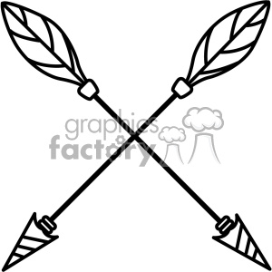 arrows crossed vector design 02 clipart. Royalty-free image # 403278