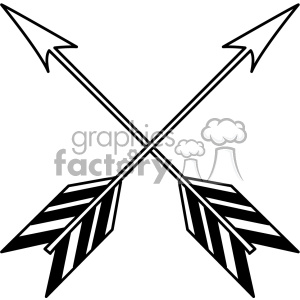 crossed arrow vector design 15 clipart. Royalty-free image # 403288
