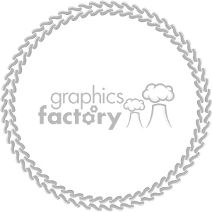circle chain border vector clipart. Royalty-free image # 403298